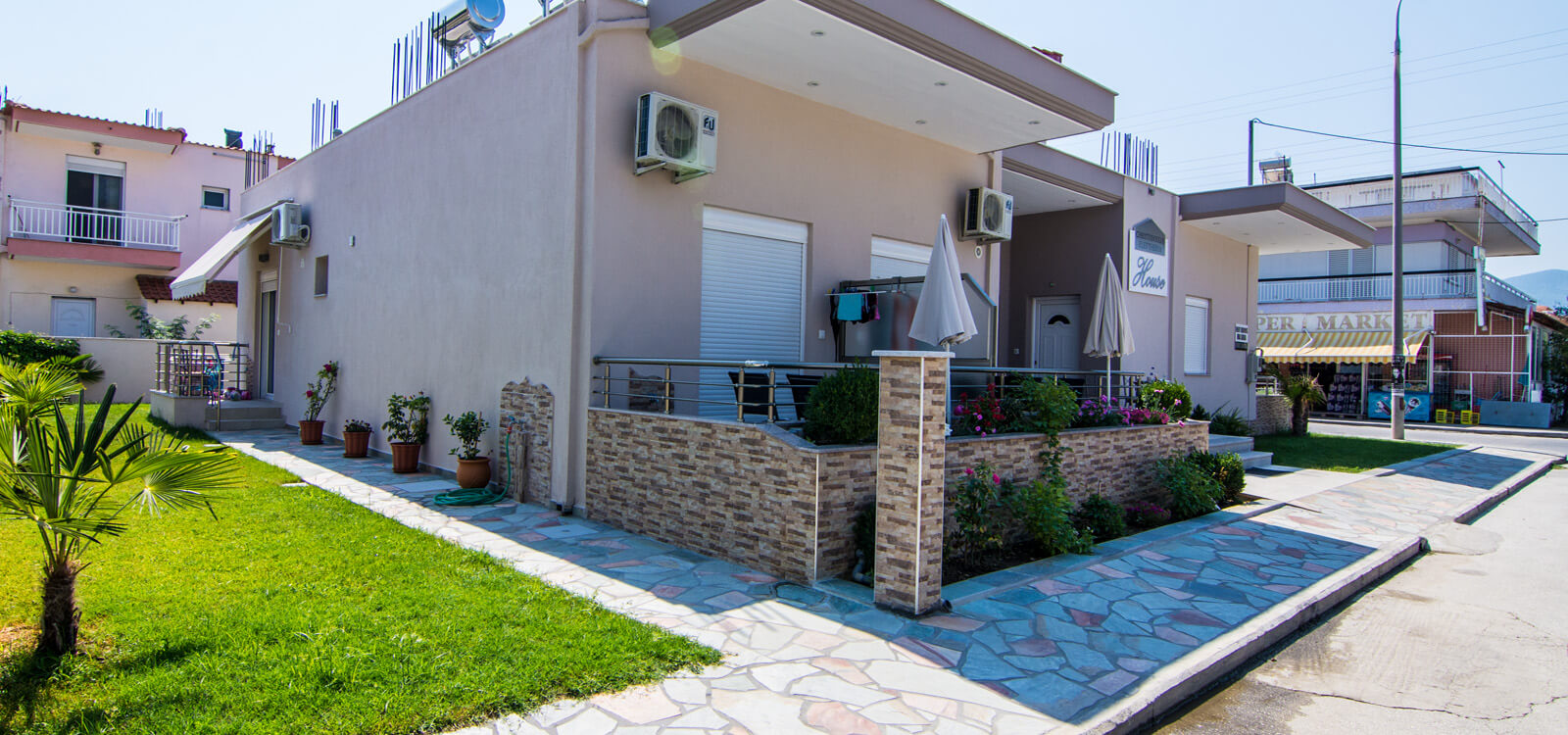 Christodoulos Eleftheria House Nea Vrasna Rent Rooms Apartments